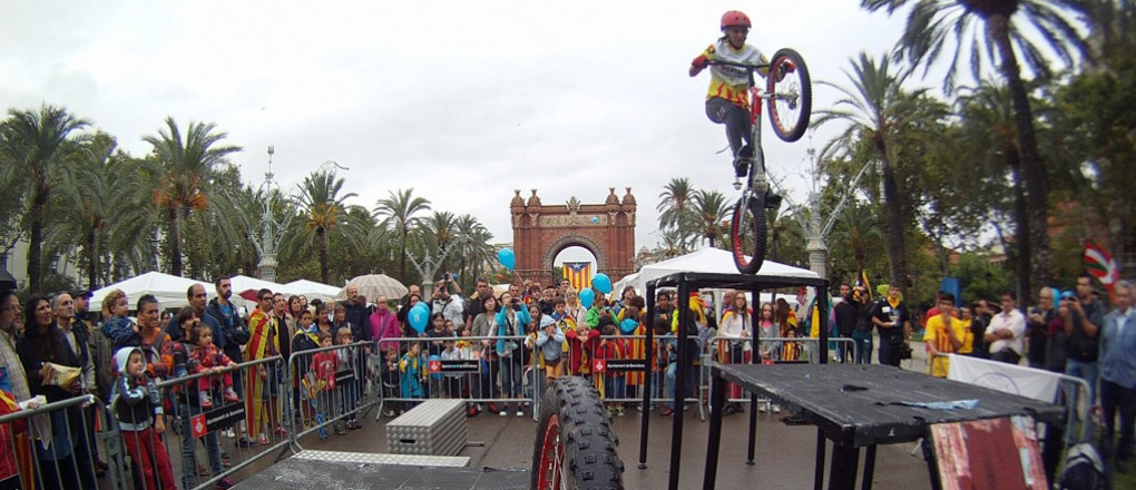 Diada de Catalunya al'Arc de Triomf, Barcelona