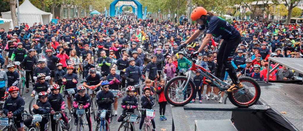 Marcha Ciclista Movistar, Valladolid. Foto del Equipo Movistar